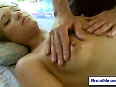 tits blonde petite blowjob shaved oil oral