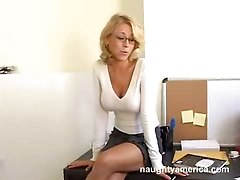 office sex blowjob hardcore cum big tits
