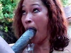 Chick In The Pool Sucking On Black Dick