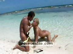 anal blonde outdoor blowjob fingering beach pussyfucking