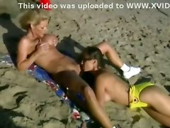 lesbian lesbians outdoor fingering busty pussylicking beach facesitting bathingsuite