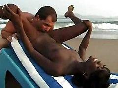 Beach Interracial Public Nudity