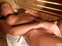 ass tight brunette oil teasing skinny masturbation solo pornstar