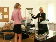 lesbian boss coworker blonde lesbians blondes anal assplay ass sextoys dildo toys