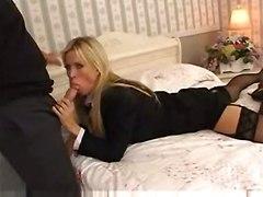 stockings cumshot facial hardcore blonde milf blowjob pussyfucking