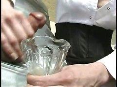 Femdom Handjob Milking Slave Encased Ducktape Mistress CumCum BJ HJ Other Fetish Bizarre