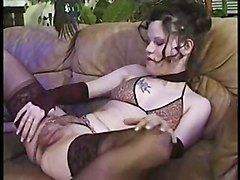 stockings cumshot hardcore brunette pussylicking pussyfucking fetish sextoys bizarre pump vacuum swollen