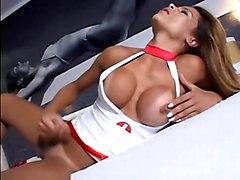 fetish guy fucks shemale blowjob big boobs condom