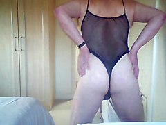amateur solo crossdresser masturbating teasing