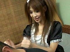 Asian Teen Maid Cosplay Creampie StockingHardcore BJ HJ Creampie Asian