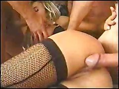 anal stockings blonde blowjob trimmed gangbang
